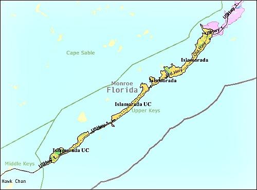 Islamorada Map