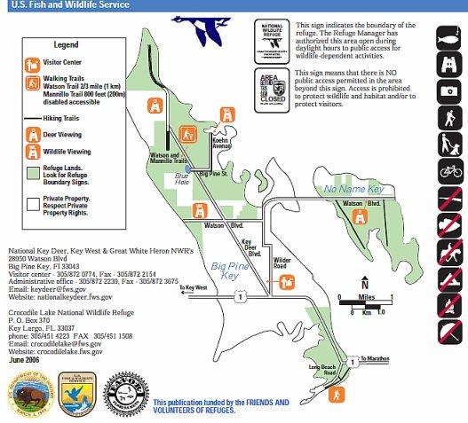 Area Map of the National Key Deer Refuge