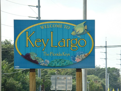 Key Largo Welcome Sign