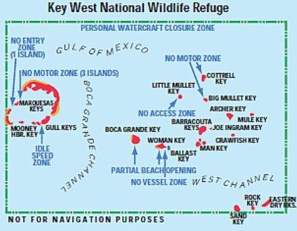 Area Map of Key West National Wildlife Refuge