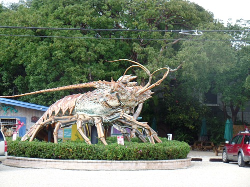 Lobster Sculpture At Rain Barrel Sculpture Gallery in Islamorada, FL