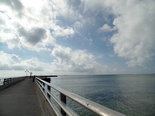 Long Pier Separating Higgs Beach and Rest Beach