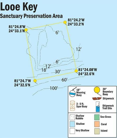 Looe Key Reef Map