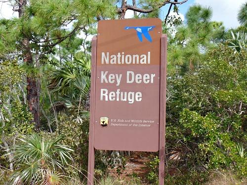 National Key Deer Refuge Sign