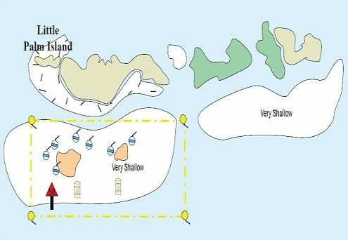 Newfound Harbor and Little Palm Island Map