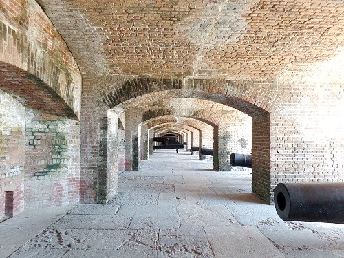 Rows Of Cannon At Fort Zachary Taylor