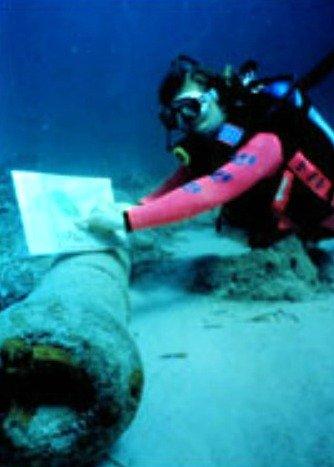 San Pedro Underwater Archaeological Preserve Replica Cannon