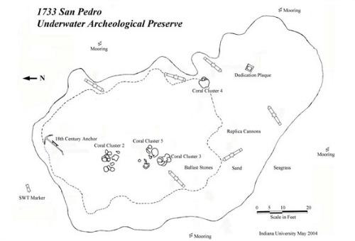San Pedro Underwater Archaeological Preserve Map