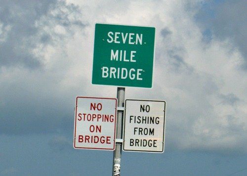 Seven Mile Bridge Sign