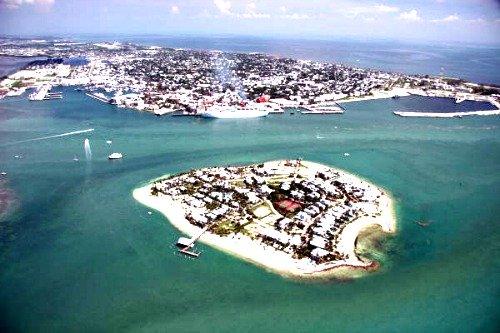 Aerial of Sunset Key Key West