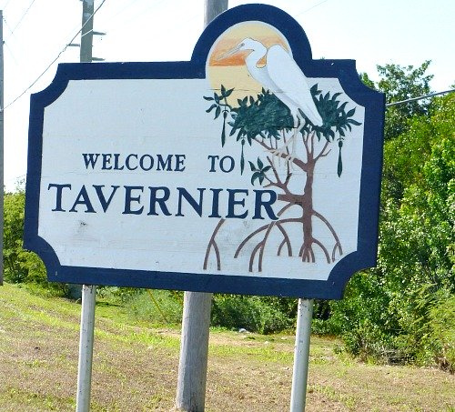 Tavernier Welcome Sign