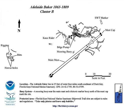 Adelaide Baker Map for Second Debris Field