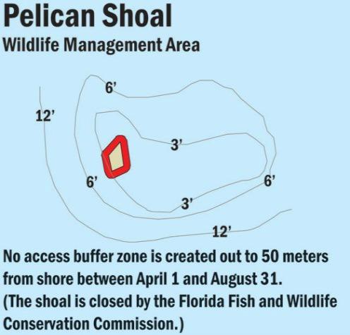 Pelican Shoal Map